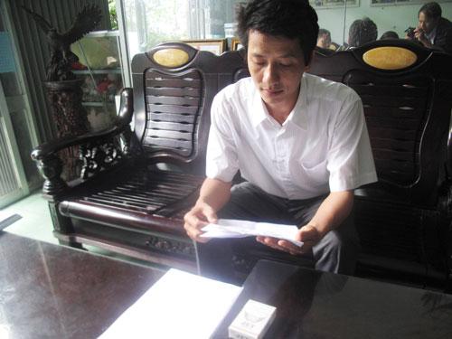 Luật sư Võ An Đôn tỏ ra bức xúc sau khi nhận kế hoạch thanh tra văn phòng luật sư của mình