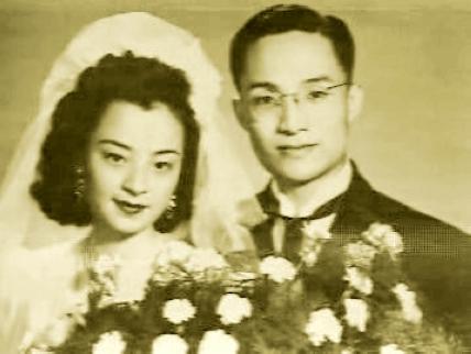 Nhà văn Kim Dung thời trẻ cùng người vợ đầu tiên