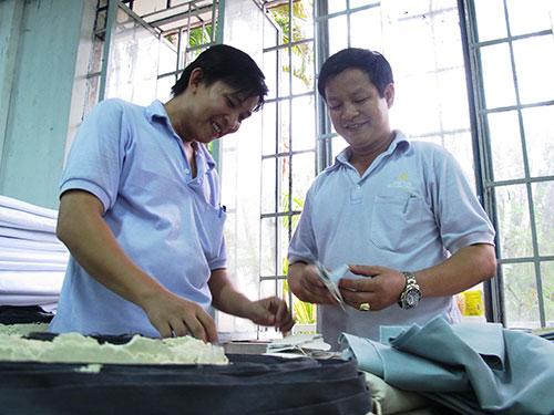 Doanh nghiệp ổn định sản xuất, công nhân an tâm làm việc (ảnh chụp tại Công ty TNHH Dae Yun Việt Nam, KCX Linh Trung 1, TP HCM) Ảnh: HỒNG NHUNG