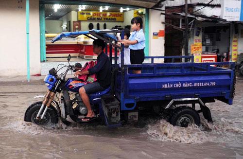 Mùa mưa năm nay, một số khu vực ở TP HCM sẽ thoát cảnh ngập nước Ảnh: Hoàng Triều