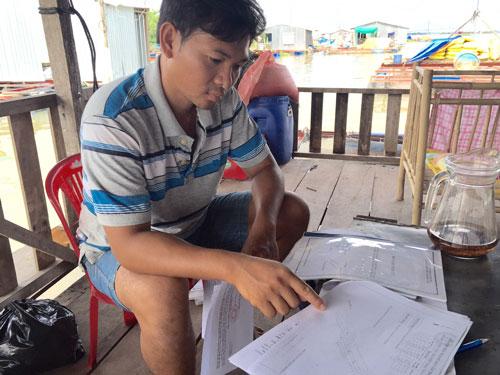 Anh Đỗ Văn Nghĩa bức xúc vì nhiều lần VMC vắng mặt tại tòa Ảnh: Ca Linh