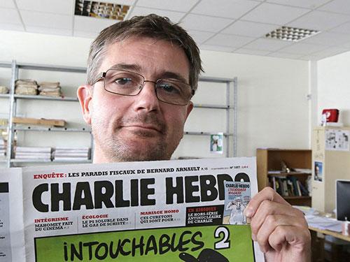Họa sĩ Stéphane Charbonnier, một trong 12 nạn nhân vụ khủng bố báo Charlie Hebdo
