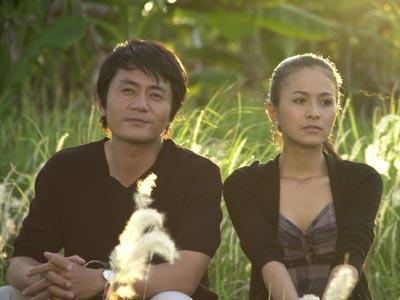 Thùy Trang và Trương Minh Cường trong phim Gió nghịch mùa