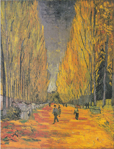 Bức họa The Allee of Alyscamps của danh họa Vincent Van Gogh. Nguồn: AP