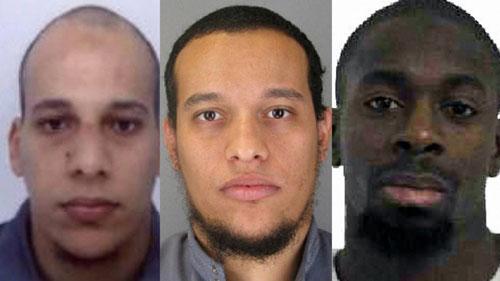 Từ trái sang: Cherif, Said Kouachi và Amedy Coulibaly Ảnh: EXPRESSO.SAPO