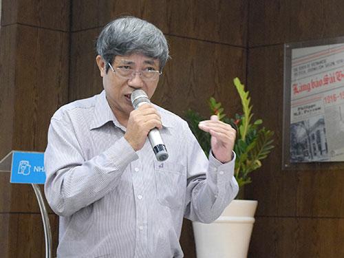 Ông Vũ Ngọc Hoan, Phó Cục trưởng Cục Bản quyền tác giả, phát biểu tại buổi tọa đàm