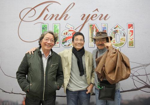 Các nhạc sĩ Phó Đức Phương, Trương Ngọc Ninh, Nguyễn Cường (từ trái qua)
