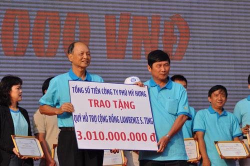 Trong lần thứ 10 tổ chức, chương trình Đi bộ từ thiện Lawrence S. Ting đã quyên góp được hơn 3 tỉ đồng ủng hộ người nghèo