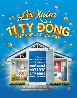 """Chào đón năm mới cùng chương trình """"Lộc xuân 11 tỉ đồng từ Samsung Galaxy"""""""