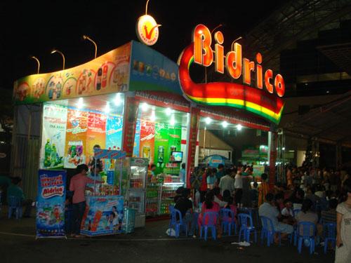 Gian hàng Bidrico tại hội chợ mua sắm Tết ở TP HCM