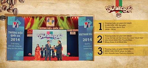 Ba cột mốc quan trọng trong năm 2014 của nhãn hiệu Vinacafé