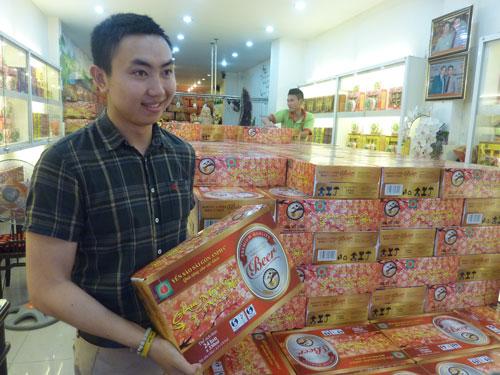 Bia tổ yến đã có mặt trên thị trường và được bày bán nhiều tại các hệ thống siêu thị, cửa hàng từ cuối năm ngoái