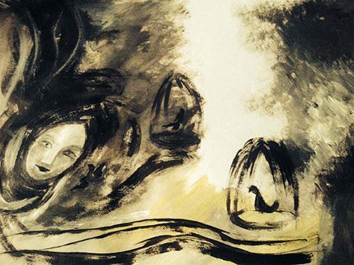 Minh họa: Sơn dầu của HOÀNG CÚC