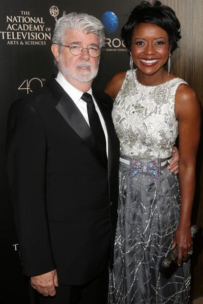 Đạo diễn George Lucas và vợ trẻ