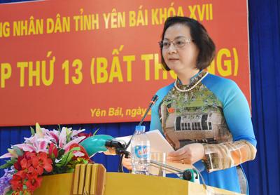 Bà Phạm Thị Thanh Trà, tân Chủ tịch UBND tỉnh Yên Bái - Ảnh: Báo Yên Bái