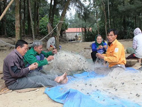 Nhiều người dân Quảng Thái rất thành công với nghề đi biển