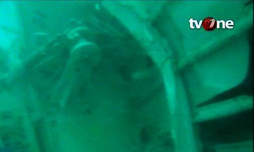 Hình ảnh trên kênh TV One (Indonesia) chiếu phần đuôi máy bay