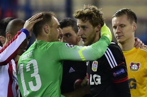 Leverkusen từng để thua Atletico Madrid ở vòng knock-out mùa 2014-2015