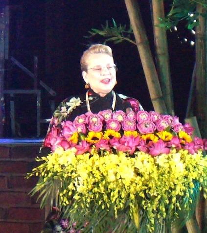 Đại diện của UNESCO phát biểu tại buổi lễ.