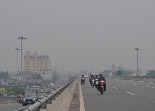 Sương mù xuất hiện ở nhiều khu vực ngoại thành TP HCM lúc rạng sáng 3-4. Ảnh: Gia Minh