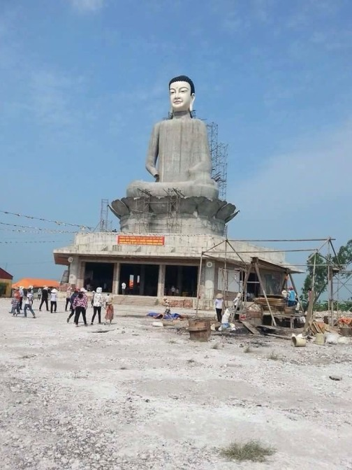 Dự kiến đây là bức tượng phật cao nhất miền bắc khi hoàn thành