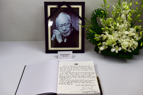 Lời Thủ tướng Nguyễn Tấn Dũng viết trong sổ tang