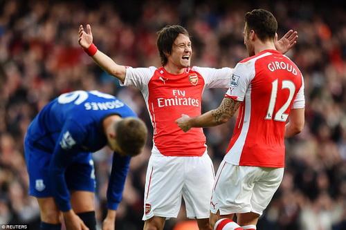 Niềm vui trở lại Top 3 của Arsenal