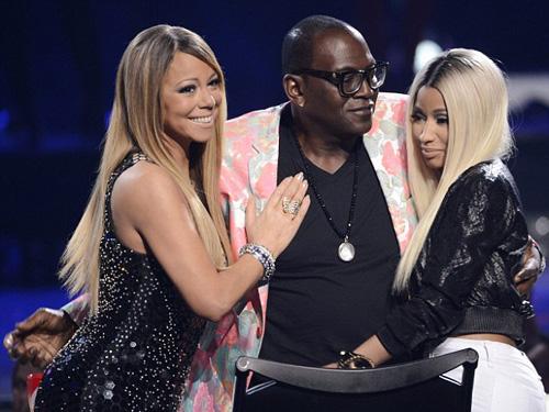 Mariah (trái) và Nicki (phải) từng gây lùm xùm khi cùng ngồi ghế nóng chương trình này năm 2013