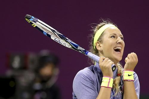 Azarenka vui mừng vào chung kết ở Doha