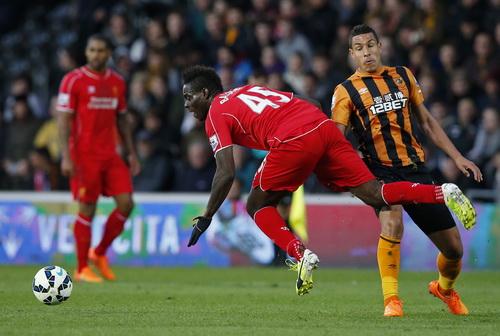 Balotelli (45) bỏ lỡ nhiều cơ hội ghi bàn đáng tiếc cho Liverpool