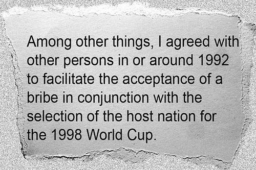 Người Pháp cũng không tránh khỏi liên can với World Cup 1998
