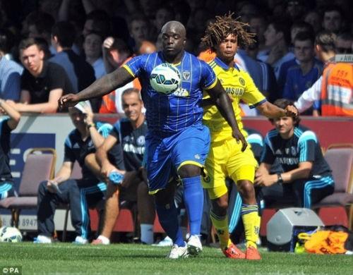 Ankinfenwa trong trận giao hữu với Chelsea hồi đầu mùa giải