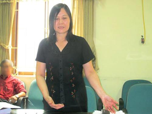 Bà Trương Thị Hải Yến tại một cuộc họp