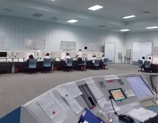 Bên trong trung tâm điều hành ACC TP Hồ Chí Minh - Ảnh: Tô Hà