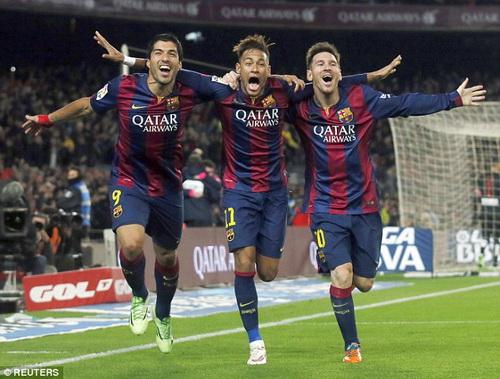 Bộ ba nguyên tử là yếu tố quan trọng làm nên sức mạnh Barcelona