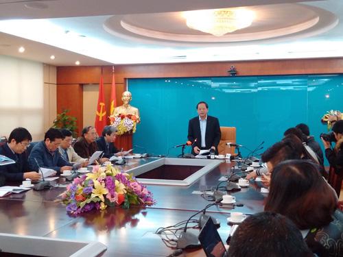 Thứ trưởng Bộ TT-TT Trương Minh Tuấn chủ trì cuộc họp báo công bố kết luận thanh tra đột xuất Báo Người cao tuổi