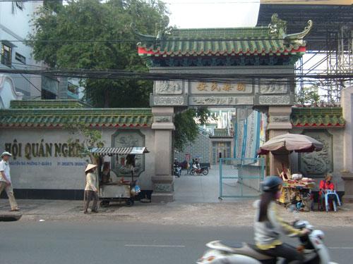 Hội quán Nghĩa An, nơi tập hợp doanh nhân người Tiều để tổ chức các hoạt động từ thiện