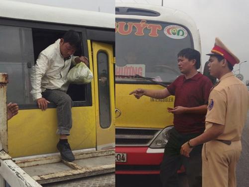 Hành khách phải thoát ra bằng cửa sổ khi bị tài xế đóng cửa cố thủ