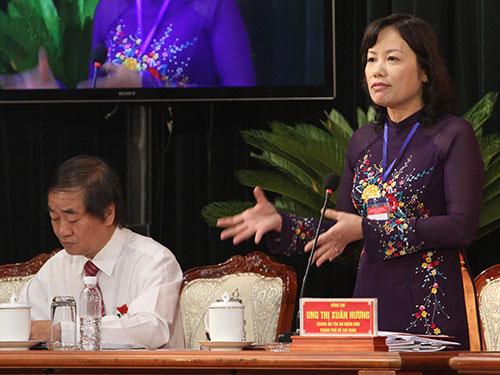 """Chánh án TAND TP HCM Ung Thị Xuân Hương: """"Thẩm phán ngại xử các vụ việc dân sự phức tạp""""  Ảnh: HOÀNG TRIỀU"""