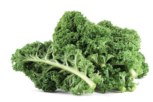 Cải lá xanh đậm chứa nhiều vitamin K