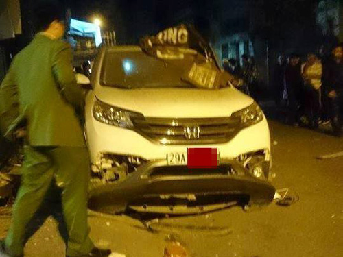 Lực lượng công an đã có mặt ngay tại hiện trường sau khi nhận được tin báo về vụ nổ lúc 4 giờ sáng 26-1