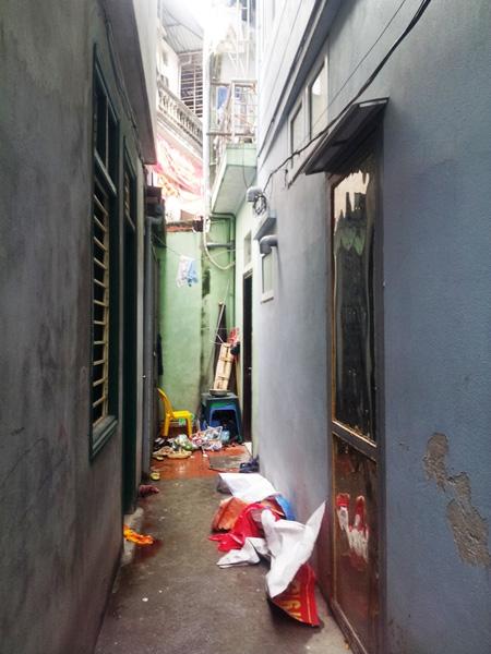 Ngõ họp vào căn nhà xảy ra sự việc ông Nguyễn Văn An chém vợ, con gái và bà thông gia