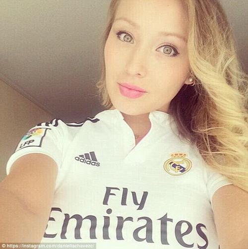Danniella yêu mến Real Madrid, nơi Ronaldo thi đấu, sau khi họ gặp nhau năm 2014