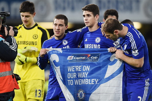Dù cùng Chelsea vô địch Cúp Liên đoàn, Oscar không có nhiều cơ hội ở đoạn cuối mùa giải