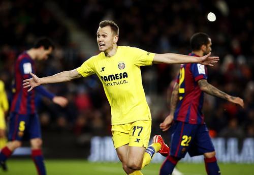 Cheryshev sau bàn mở tỉ số cho Villarreal