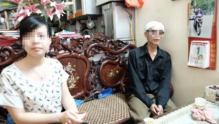 Chồng, con bà Lương. Ảnh: Tiền Phong