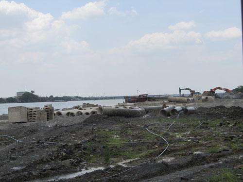 Dự án lấp sông Đồng Nai đang tạm dừng vì gặp phản ứng của dư luận Ảnh: Thu Sương