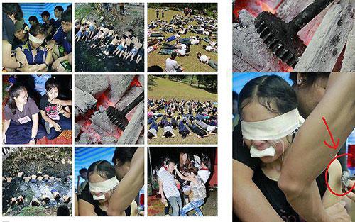 Hình ảnh những màn chào đón tân sinh viên Thái Lan được đăng tải trên mạng xã hội Ảnh: FACEBOOK