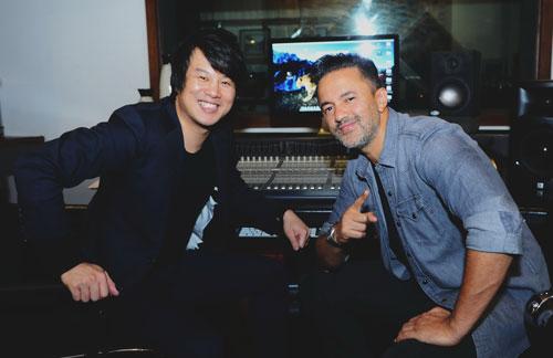 Nhạc sĩ RedOne và nhạc sĩ - ca sĩ Thanh Bùi tại TP HCMẢnh: Thùy Trang