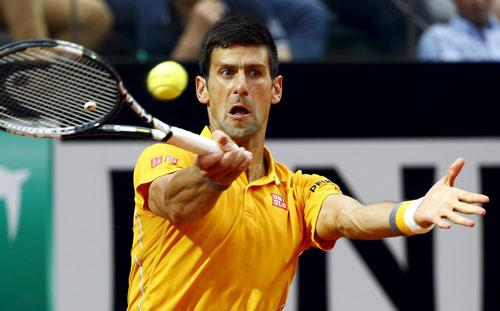 Djokovic đang có phong độ rất tốt trên mặt sân đất nện mùa này Ảnh: REUTERS